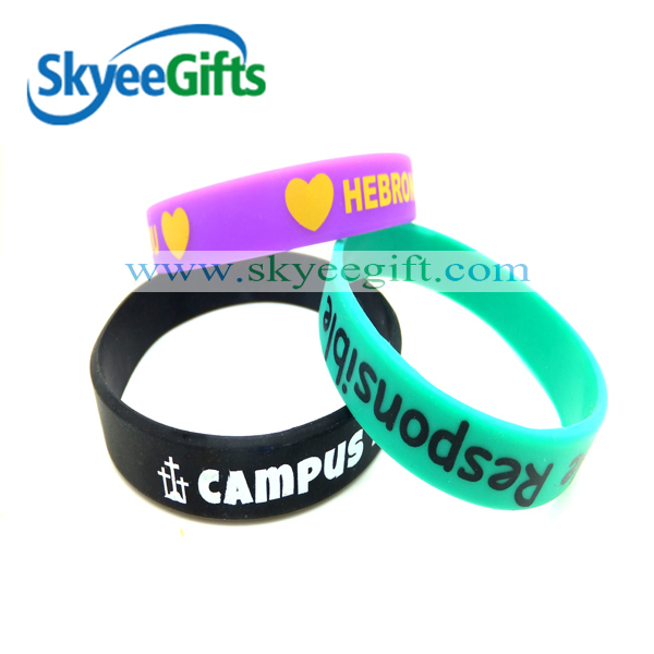 Custom Silicone Wristbands Your Color,Text, Image color filled Bracelet Wrist Band