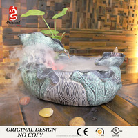2016 New Design Chinese Indoor acrylic oval coffee table fish aquarium