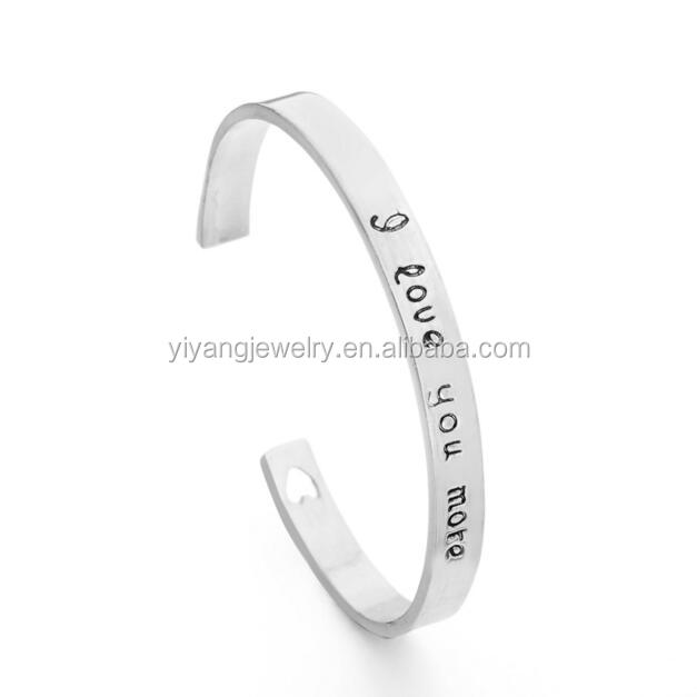 I Love You More Cuff Bangle Jewelry Bracelet High Quality
