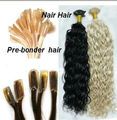 100% human hair u tip hair extension