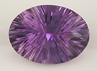 CZ stone oval amethyst color