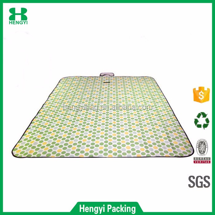 OEM factory price sand proof non woven beach mat/portable tote camping mat/canvas picnic mat