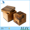 DIY 3D Cube Brilliant Intelligence Brain Teaser Educational Funny Wooden Toy Chinese Puzzle for Kids Square Packing Challenge