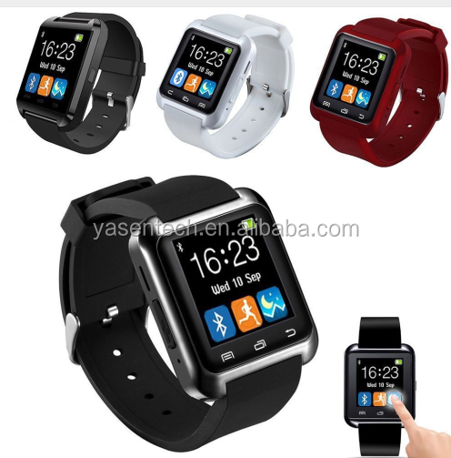 2016 Hot U80 Bluetooth smart watch u80 Fashion Android Watch Sport Wrist LED Watch Pair For iOS Android Phone U8 U9 Smartwatch