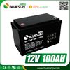 Bluesun high quality battery charger 12v 100ah lead acid batteries with ISO CE ROHS