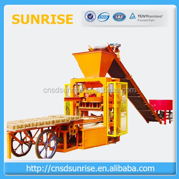 production line QT4-26 concrete block making machine/stationary brick machine