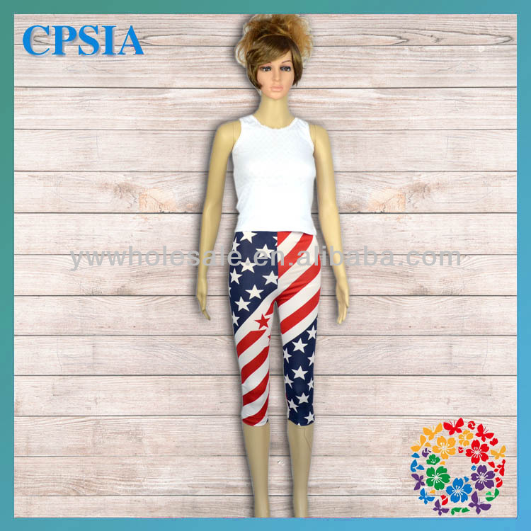 2014 Newest American Style Wholesale Fancy Five Star Stripe High Waist Young Sexy Girls Half Pants Children Pant