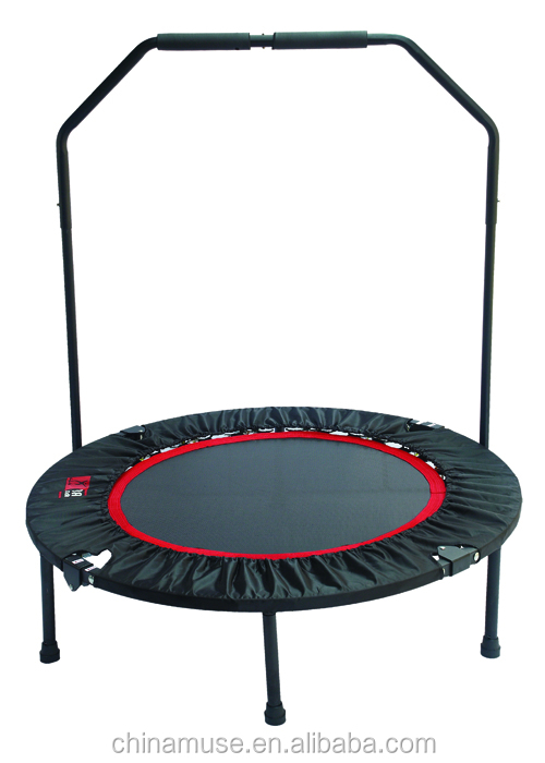 MUSE Garden outdoor and Indoor fitness furniture 40inch mini round folding jumping trampolines with handle bar