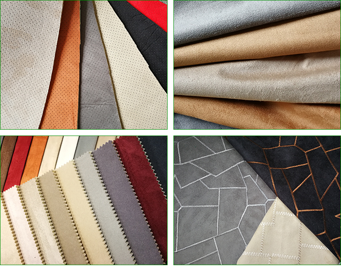 100% polyester faux microfiber suede auto upholstery suede fabric for sofas