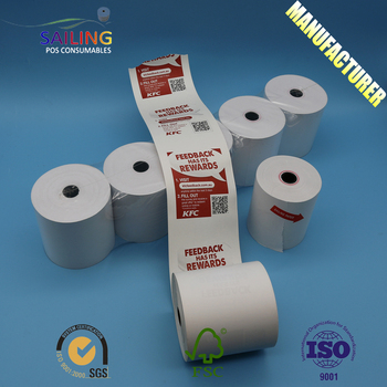 High quality A grade 57/50mm 80/80mm  thermal transfer paper roll