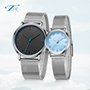 Fashion 2018 Men Luxury Brand Unisex Popular Stainless Steel Dial Leather Mesh Band Clock Men Women's Quartz Couple Watches