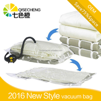 low-price Flat Vacuum Storage Bag with double zipper for bedding