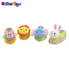 BobearToys wholesale winter baby 3D animal rabbit warm soft cotton fabric shoes first walk