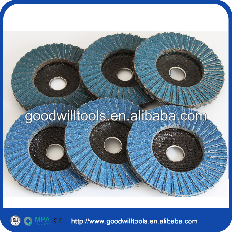 100 x 16 mm 40~120 # zirconium flap disc in abrasive tools for stainless steel metal