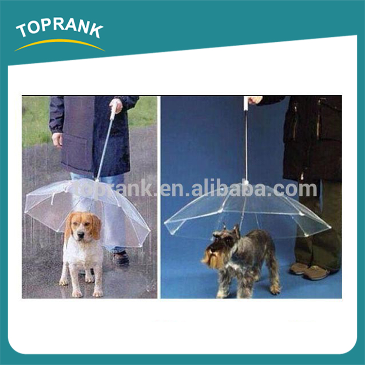 Cheap wholesale foldable waterproof manual clear plastic pet dog umbrella for dog