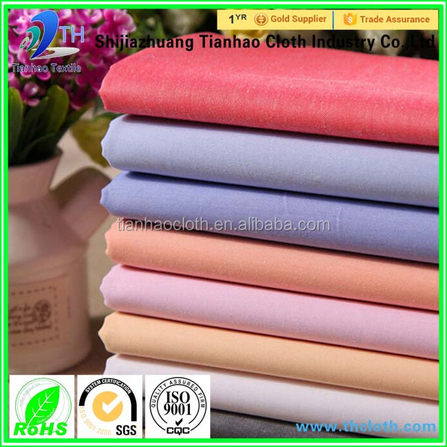hot sale dyed cotton fabric 100% cotton raw materials for shirt/ cotton shirting fabric