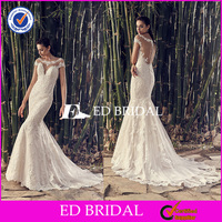 ED Bridal Collection Hot Sale Smart Lace Mermaid Sexy Wedding Dress Bondage for Mature Bride