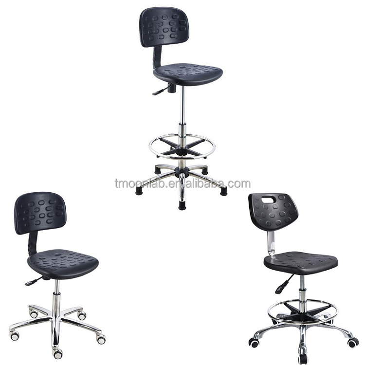 Laboratory furniture Durable polyurethane ESD laboratory chair with wheels and back