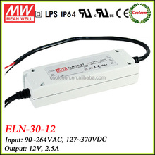 Meanwell ELN-30-12 30w electronic adjustable led driver 12v 2.5a