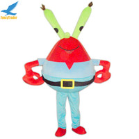 Hola Spongebob Plush MaterialRed Mr. Krabs Mascot Costum Made in China for Adult