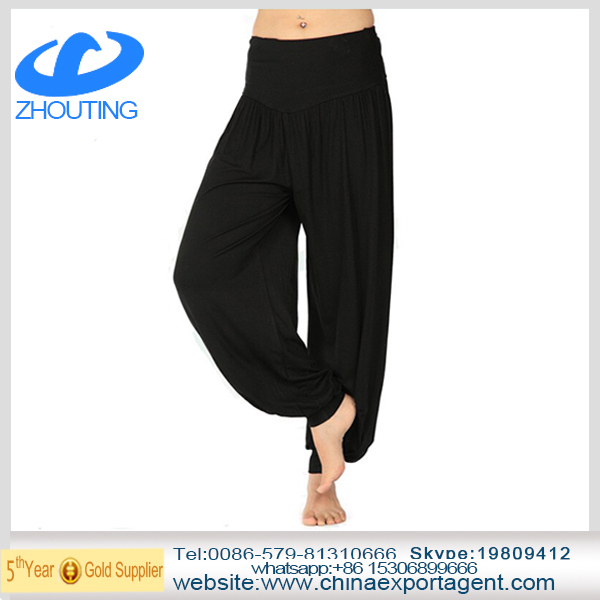 2014 Factory Price Plus Size Loose Women Modal Yoga Pants In Fitnes M,L,XL,XXL,XXXL
