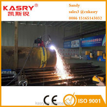 semi automatic portable cnc pipe cutting and beveling machine with plasma and flame torches used in pipeline industries