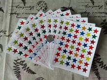 Free shipping wholesale 5000pcs sticker paper reward stickers teacher star school stickers with hot stamping promotion gift
