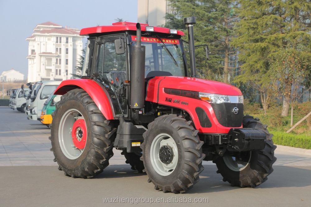 Cheap 4 WD and 130 hp (wheel drive )farm tractor for sale for agricultural purpose with multiple spare parts by china Wuzheng