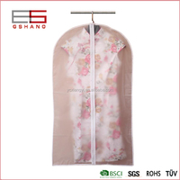 Hanigng breathable zippertravel garment bag for uniform/dress/suit