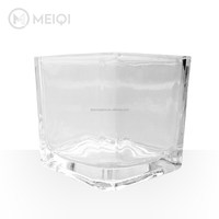 Machine pressed Square glass vase