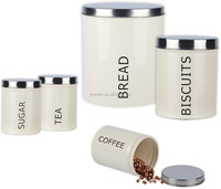 5 pieces bread bin biscuit tea coffee sugar canister sets