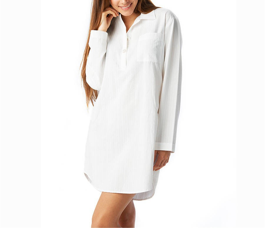 Wholesale Sexy Long Sleeve White Nightshirts