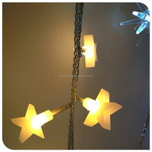 led christmas star shaped warm white light chain with adaptor home decorations