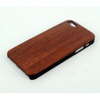 Nice Appearance Natural Raw Wood+PC Cover Protective Case for iPhone 5/5S, Hybrid Hard PC & Wood Case for iPhone 5S