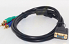 CE ROHS high quality 1.4V hdmi to vga rca cable HDMI to VGA 15pin Male 3 RCA Male Composite Converter AV Cable