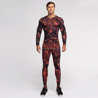 (OEM/ODM Factory)Mens Compression Base Layer Short Long Sleeve T Shirts Thermal Under Sports wear