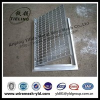 Surface Finishing Galvanized Steel Grating Trench Cover And Safety mesh