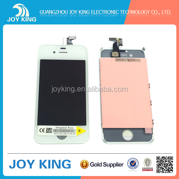 Latest design superior quality for iphone 4s lcd display with touch screen digitizer