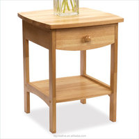 Nightstand Natural Basics Solid Wood End Table