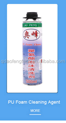 PU foam cleaner/cleaning agent