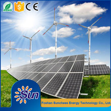 5kW panel solar system wind turbine and solar panel hybrid system