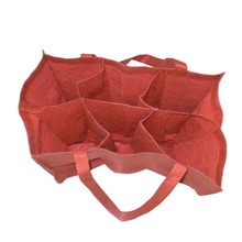Hot Popular Reusable Durable 6 Bottles Nonwoven Wine Tote Bag With Dividers Wholesale In China