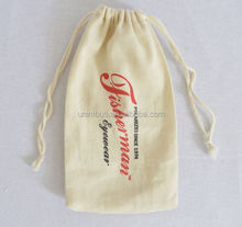 Hot Product Plain Organic Cotton 12oz canvas drawstring laundry bag