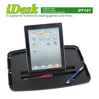 Portable lap Desk Laptop Tray desk cushion tray with LED light and cup holder for HP for Macbook
