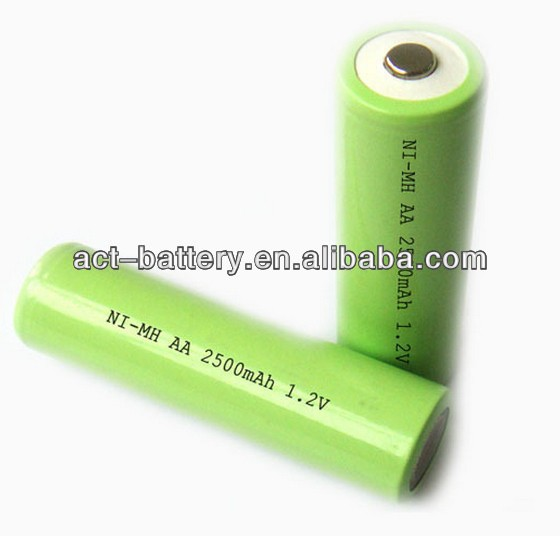 rechargeable OEM battery nimh AA 2500mah 1.2V battery