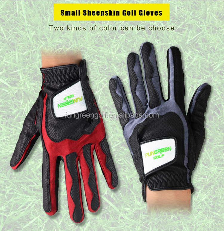 customized Leather golf gloves in sport gloves
