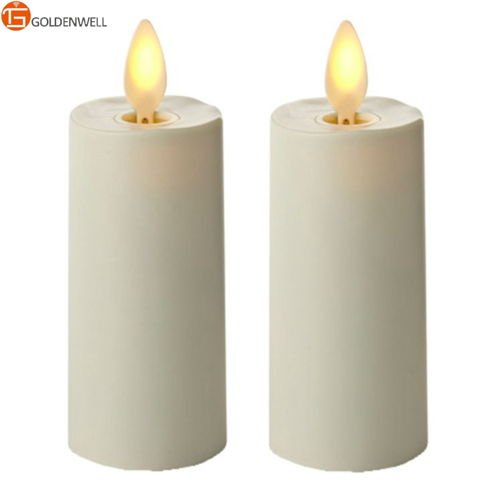 Rechargeable Moving Wick Led Tealight Candles