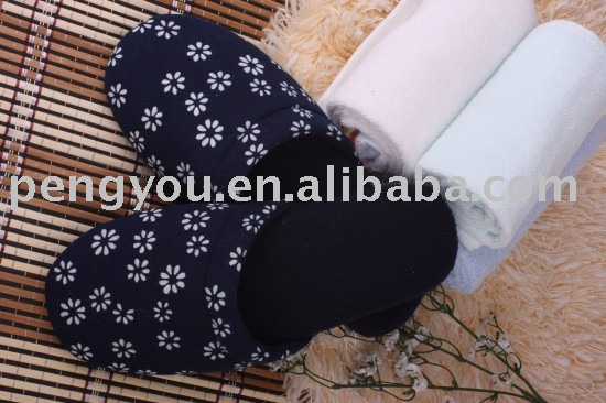 2014 year comfortable blue cloth best-selling rubber lady slipper