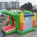 Cool crocodile happy jumping castle/commercial bounce house