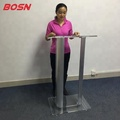 Detachable Acrylic Speaker Lectern with Aluminum stands
